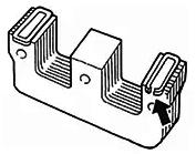 安装在铁芯极面上的分磁环